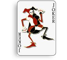 Joker Card Print Canvas Print