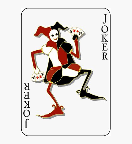 Joker Card Print Photographic Print