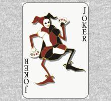 Joker Card Print Kids Tee