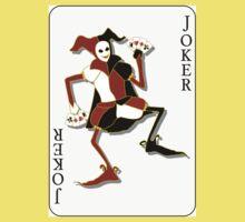 Joker Card Print One Piece - Short Sleeve