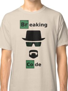Breaking Code - Black/Green on White Bad Parody Design for Hackers Classic T-Shirt