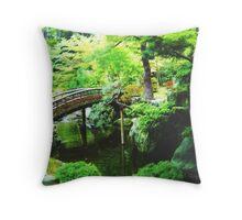 Tranquil Japanese Garden  Throw Pillow