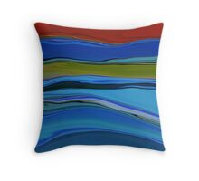 Strata fine art print Throw Pillow