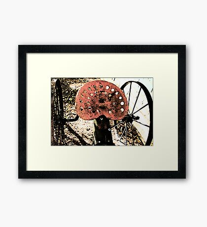 Seat For A Red Framed Print