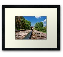 Lonesome Rails Framed Print