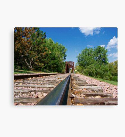 Lonesome Rails Canvas Print