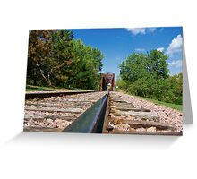 Lonesome Rails Greeting Card