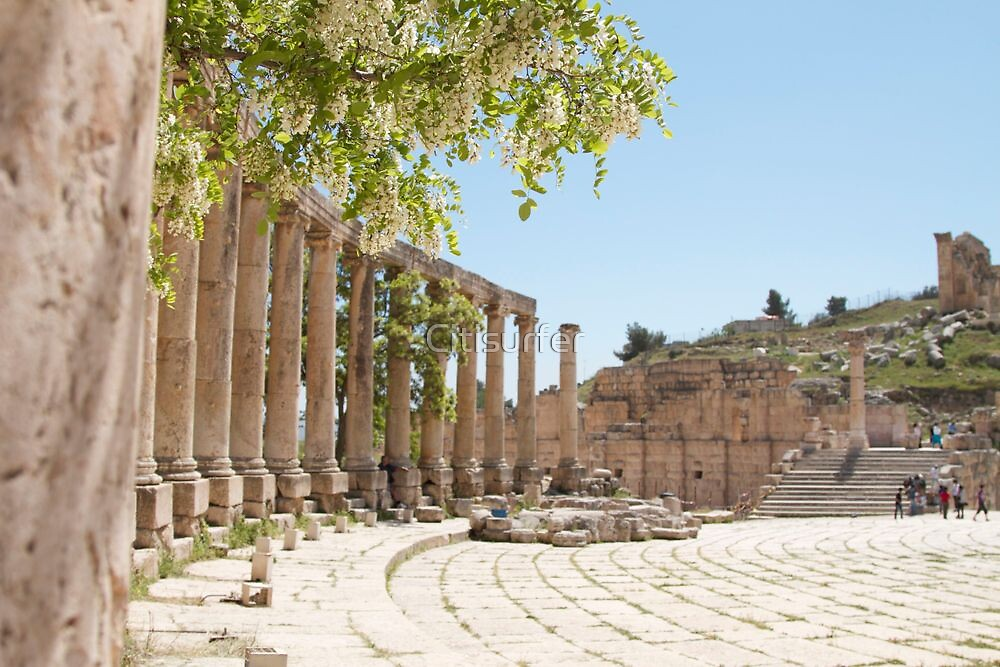 The Forum in Jerash by Citisurfer