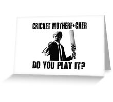 Rude Funny Cricket Shirt Greeting Card