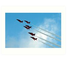 Red Arrows Formation Art Print