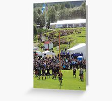 Tossing the Caber, Braemar, Scotland Greeting Card