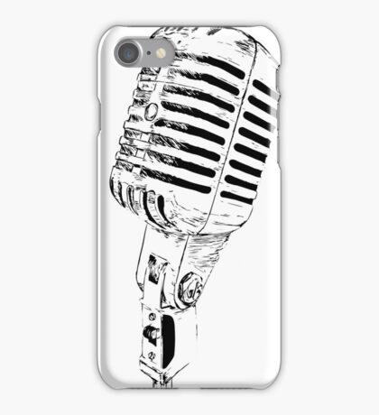 retro mic iPhone Case/Skin