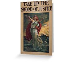 Take up the sword of justice 1 1451 Greeting Card