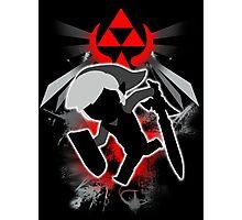 Super Smash Bros. Black Toon Link Silhouette Photographic Print