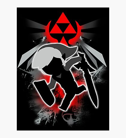 Super Smash Bros. Black Toon Link Silhouette Photographic Print