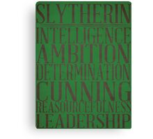 Slytherin (Harry Potter) Canvas Print