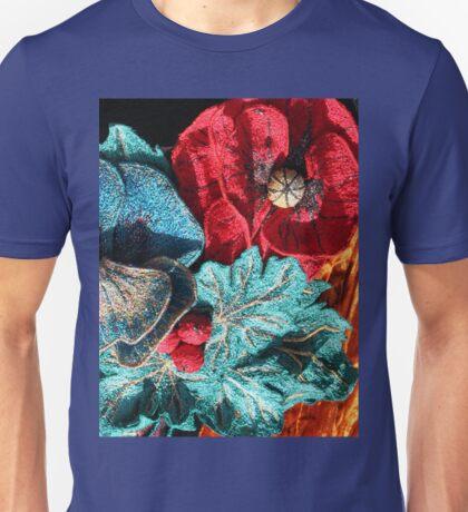 Poppy Machine Embroidery no.4 Unisex T-Shirt