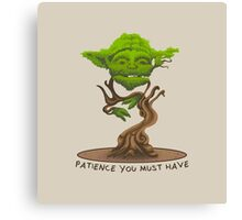 Bonsai Yoda Canvas Print