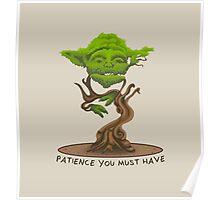 Bonsai Yoda Poster