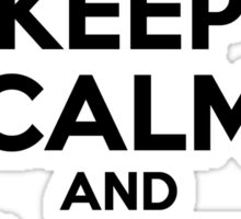 Keep Calm and Love TELLY Sticker