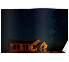 Milky Way Over The Old Schoolhouse Poster