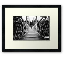 Suspension Bridge (Cambus O' May, Aberdeenshire) Framed Print