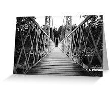 Suspension Bridge (Cambus O' May, Aberdeenshire) Greeting Card