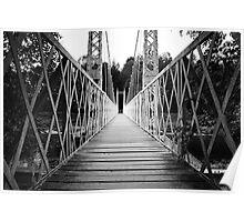 Suspension Bridge (Cambus O' May, Aberdeenshire) Poster