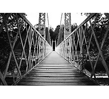 Suspension Bridge (Cambus O' May, Aberdeenshire) Photographic Print