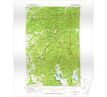 USGS Topo Map Washington State WA Mt Spokane 242688 1950 62500 Poster