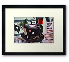Hats Off- One Cool Hat  For One Cool Cat Framed Print