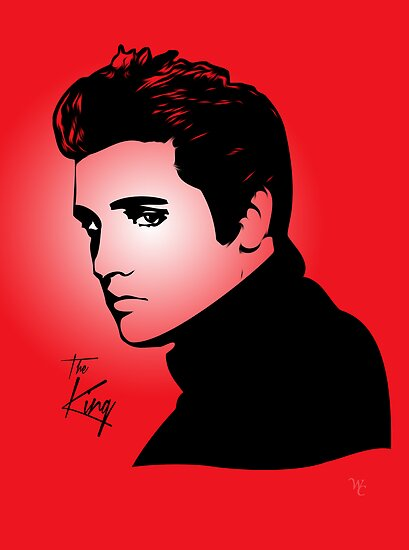Elvis Presley - The King - Pop Art by wcsmack