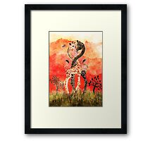 Giraffe Love Framed Print