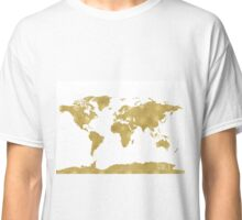 World map Gold B Classic T-Shirt