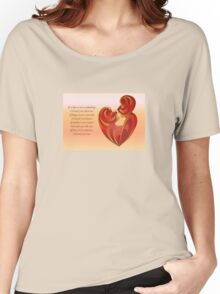 If A Kiss Were A Raindrop Greeting  Women's Relaxed Fit T-Shirt