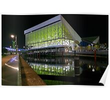 Aquatics Centre at Night Poster