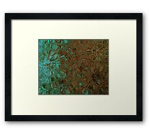 Brown and Teal Contemporary Art Print Framed Print