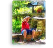 Boy With Yoyo Canvas Print