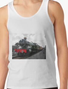 Vintage steam engine railway train Tank Top