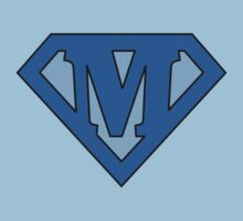 Super Blue M Logo by Adam Campen