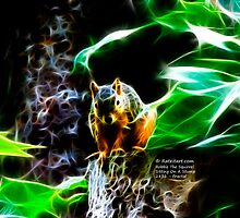 Fractal - Sitting on a Stump - Robbie The Squirrel - 2831 by Rateitart