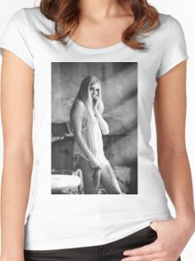 Nude Women Sexy - Sensual - Tattoo Women's Fitted Scoop T-Shirt
