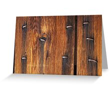 Nail Stains on Wood Greeting Card