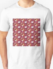 Woodland Excitement in Red, small scale Unisex T-Shirt