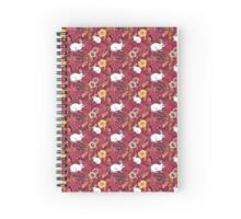 Woodland Excitement in Red, small scale Spiral Notebook