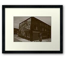 Mural by the Galesburg, IL train station. Framed Print