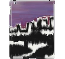 Abstract Cityscape over water iPad Case/Skin