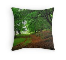 Walking in an ancient forest Throw Pillow
