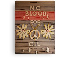 No Blood for Oil Canvas Print