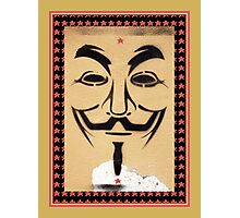 Anonymous Guy Fawkes Mask Photographic Print